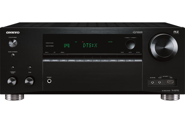 onkyo unveils three new rz series av receivers tx rz710 front