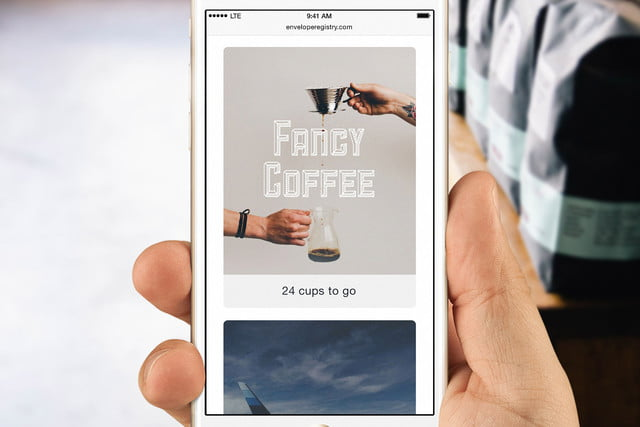 envelope uses robots to write thank you notes for your wedding portrait iphone coffee