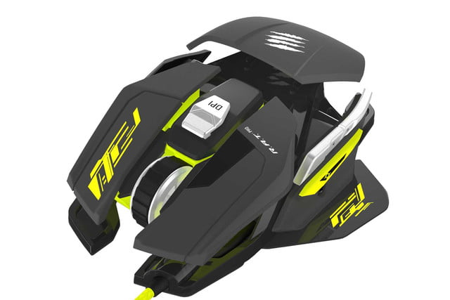 mad catz goes neon green with new customizable gaming mouse ratpros