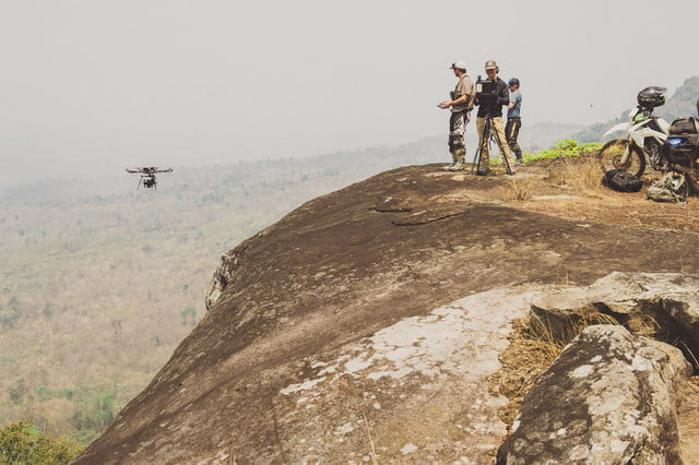 Red Bull Blood Road behind the scenes flying drone off cliff