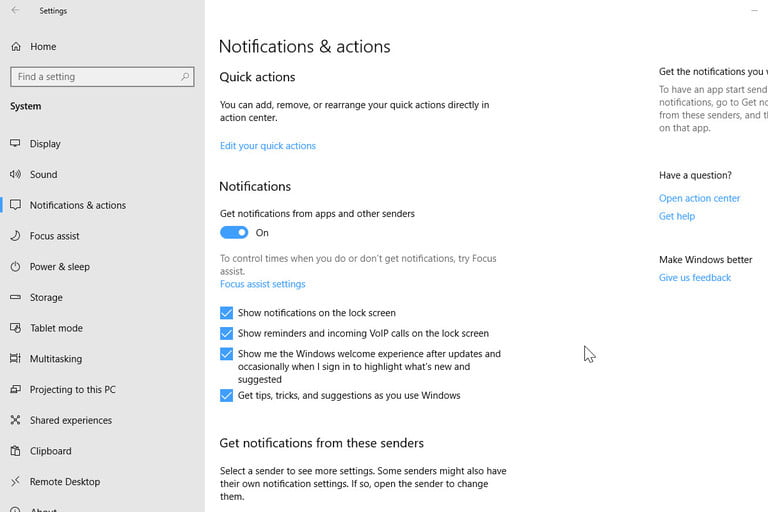 Per App Notification Settings