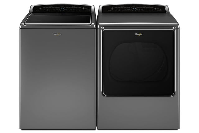 whirlpools smart appliances work with nest and amazon dash whirlpool top load laundry pair p150022 4z