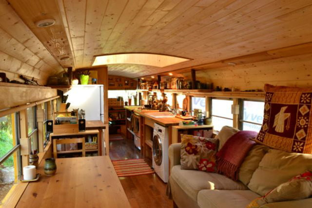 coolest bus to mobile home conversions yellowbus4