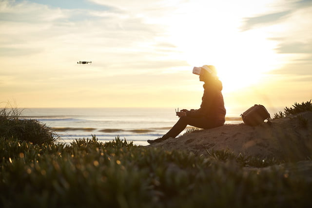 dji goggles launched  beach