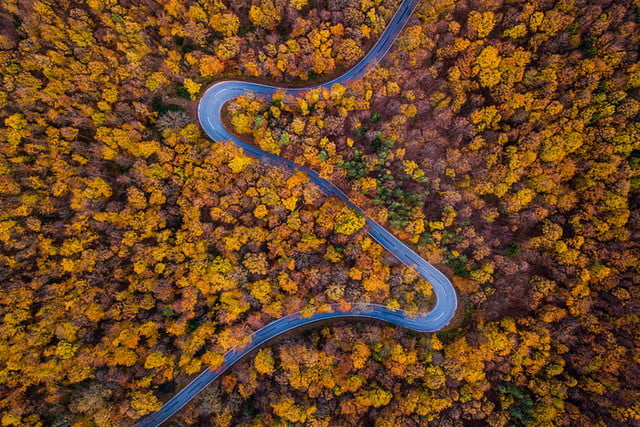 best drone photos fall