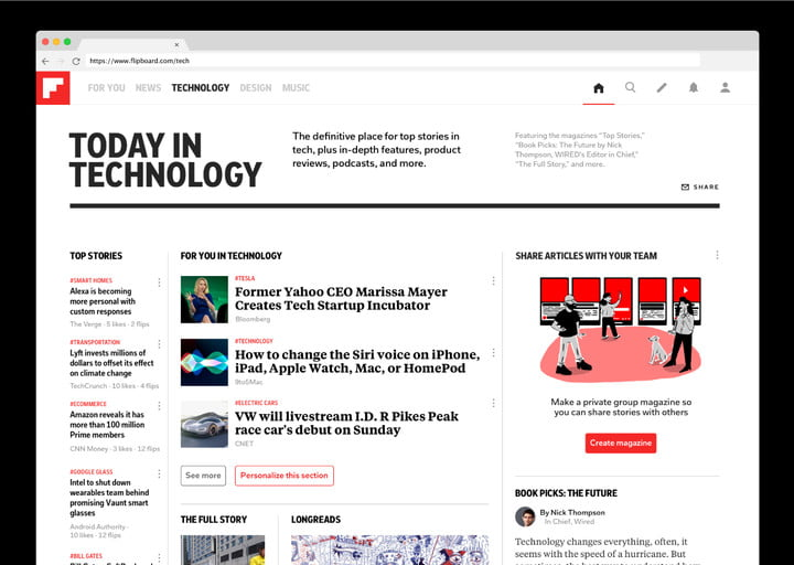 flipboard adds new tech features desktop