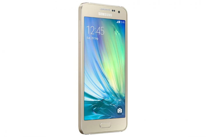 samsung galaxy alpha a5 and a3 news front angle gold