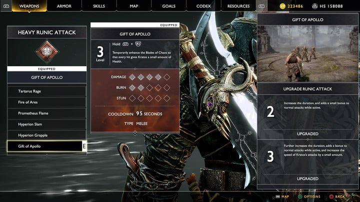 god of war valkyries guide health promoting equipment
