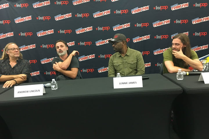 GREG NICOTERO & ANDREW LINCOLN & LENNIE JAMES & TOM PAYNE AT TWD PRESS CONFERENCE