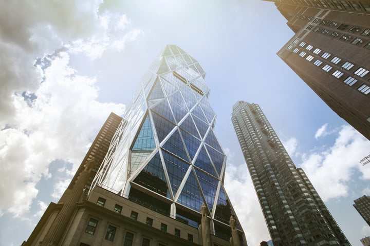 best company headquarters hearst tower in midtown manhattan  new york city