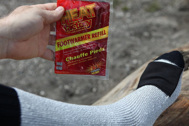 heat factory merino socks pocket