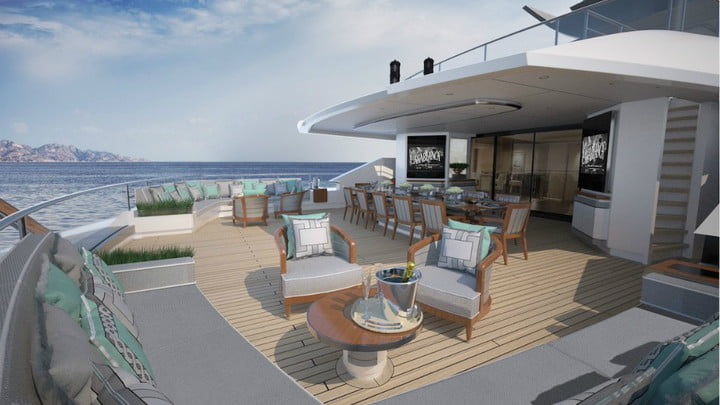 luxury yachts the worlds best super heesen there is ample entertainment space that can be used as a lounge by day and club n