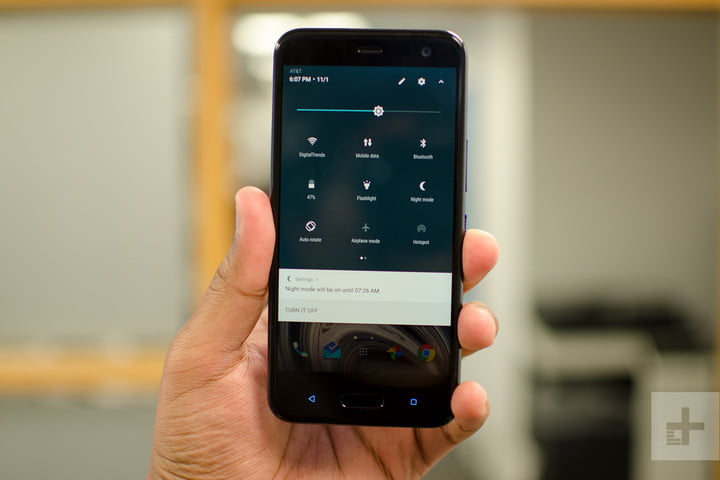 HTC U11 Life review quick settings