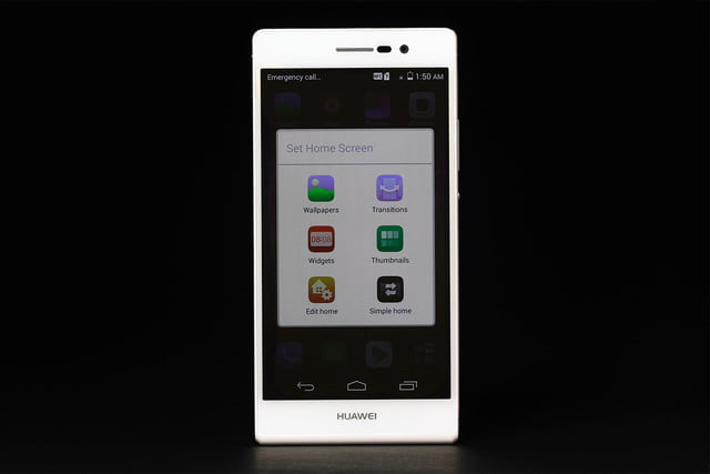 Huawei Ascend P7 review home screen