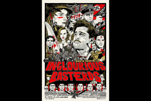 best stranger things style movie posters inglourious basterds by tyler stout