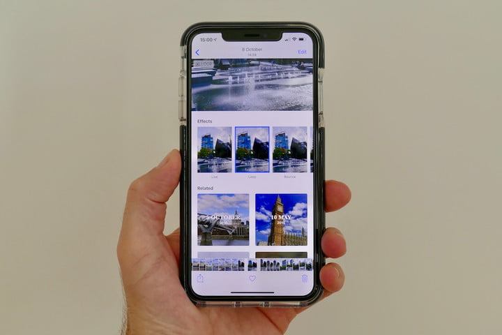 iphone xs max camera guide live photo options