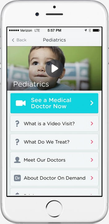 doctor on demand brings doctors and psychologists to your phone iphone pedatrics