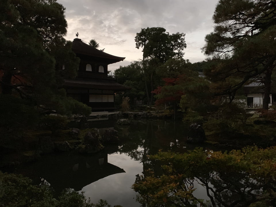 iPhone XS Max Evening Kyoto temple at dusk