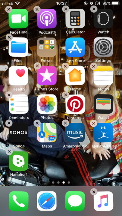 iPhone hide unwanted apps