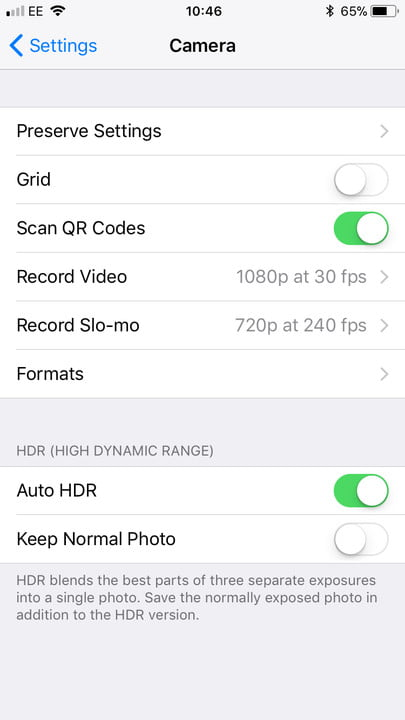 iPhone storage camera