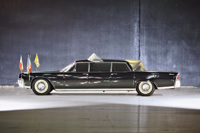 10 sweet popemobiles that will make you wish held the keys of heaven lincoln continental limousine  1964