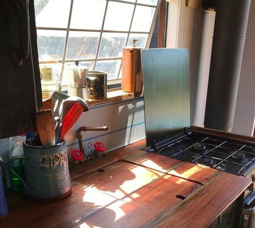 lorry life tiny home kitchen