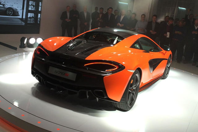 McLaren 570S Reveal back angle