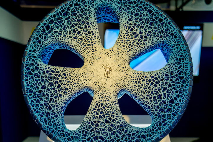 michelin visionary concept 3d printer tire text front