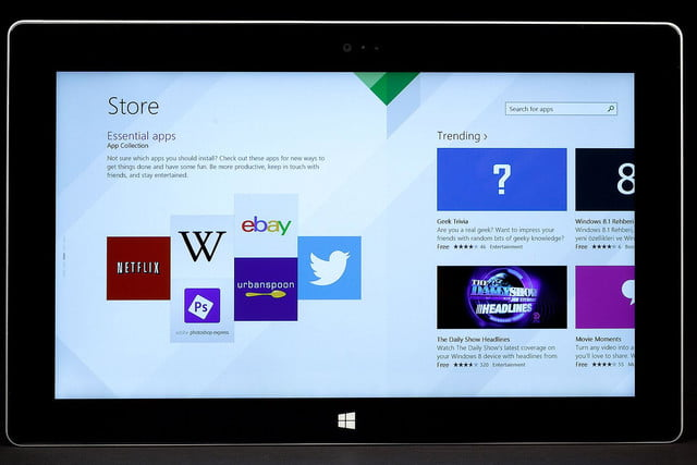 Microsoft Surface 2 front app store