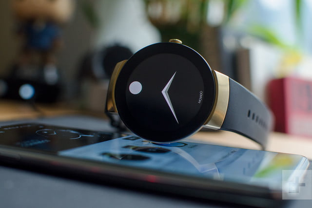 Movado Connect on phone black