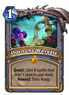 hearthstone decks ungoro open the waygate 55551