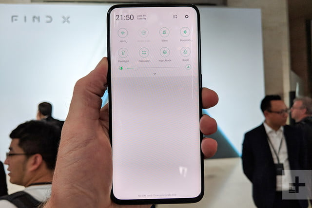 oppo find x hands on quick settings