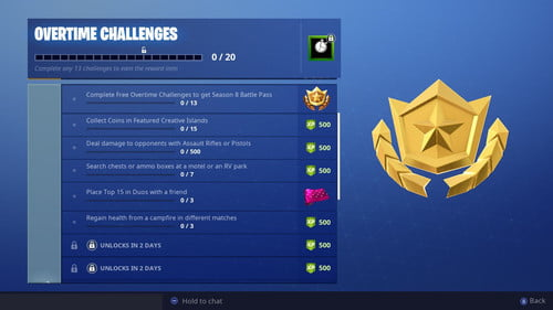 Fortnite Overtime Challenges: Collect 15 Coins in Featured