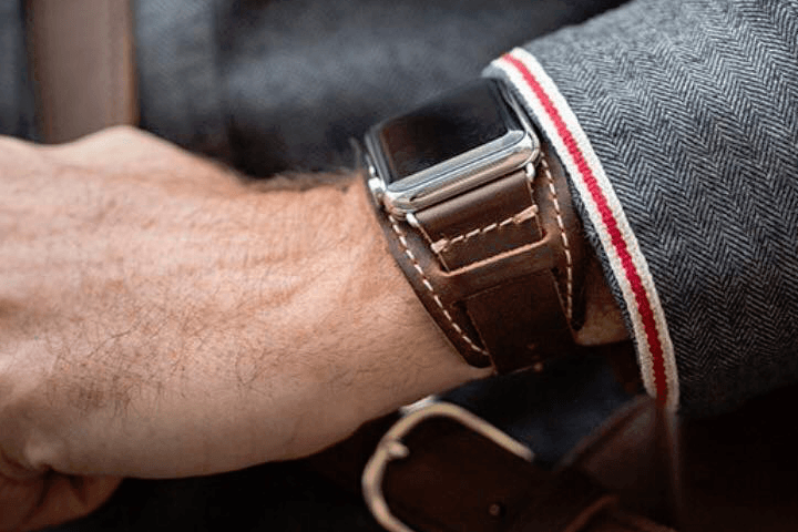 best Apple Watch bands Pad & Quill Lowry Leather Cuff
