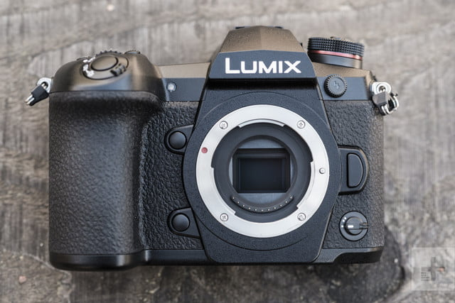 Panasonic Lumix G9 Review | Directly in front of the camera with the lens removed