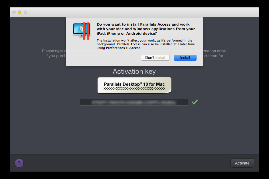 where is my parallels activation key