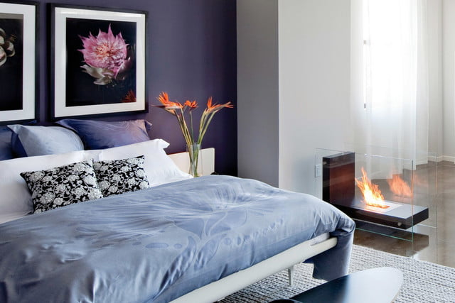 tech to set the mood in bedroom on valentines day planika primefire remote controlled fireplace