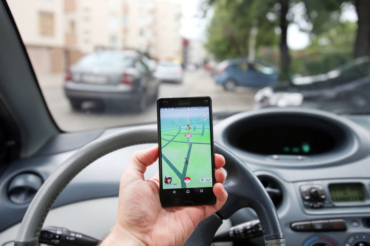 pokemon go driving message