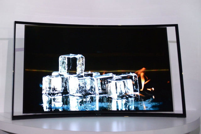 Samsung KN55S9C OLED TV front ice cubes