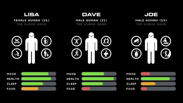 Seed Concept Art featuring a graphic showing off different characters' strengths and how they compare to one another