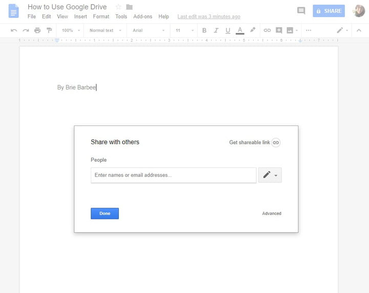 how to use google drive share with others 1