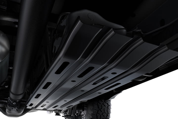 ram rebel 1500 truck off road technology features skid plate