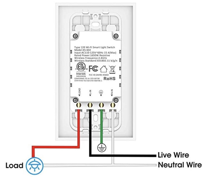 how to install a smart light switch wiring diagram