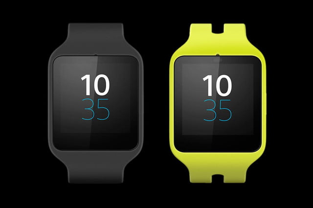 Sony Smartwatch 3 front colors