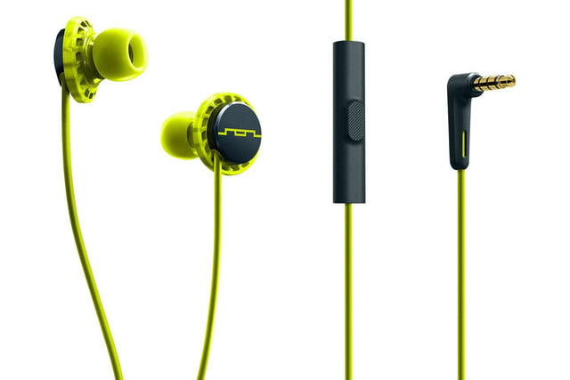 sol republic relay sport form fit water resistant in ear headphones relays wide yellow