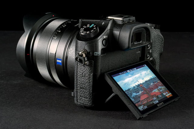Sony DSC-RX10 review rear angle LCD extended
