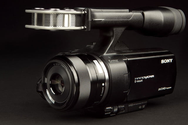 SONY NEX VG 30 Camcorder microphone lens angle