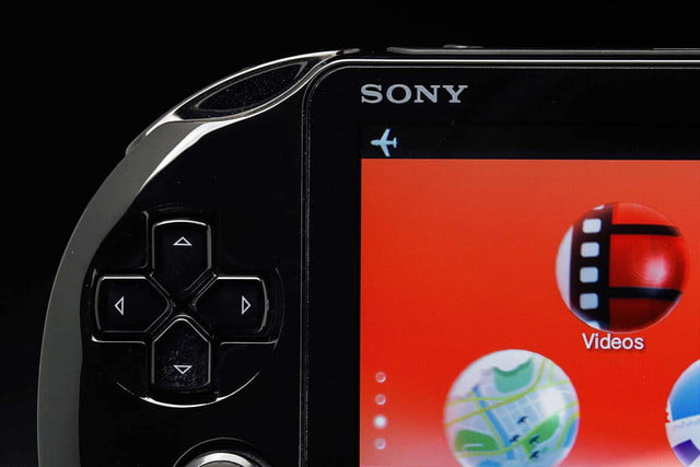 Sony PlayStation Vita Slim review top left buttons macro