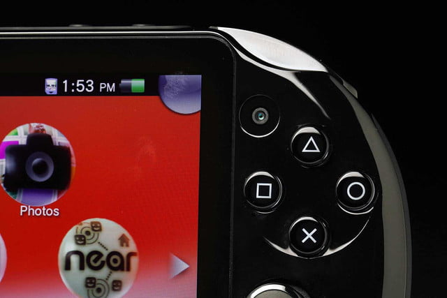 Sony PlayStation Vita Slim review top right buttons macro