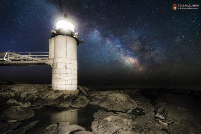 Spring Milky Way at Marshall Point Light